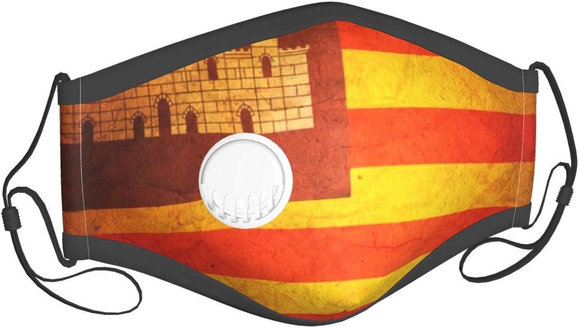 Bandera de las Islas Baleares Mascarillas de seguridad lavables reutilizables Máscaras de seguridad protección contra el polvo polen mascotas caspa otros aerotransportados
