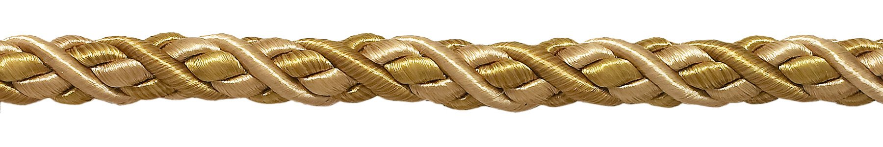 DÉCOPRO 27 Yard Package of Large Two Tone Gold Baroque Collection 7/16 inch Decorative Cord Without Lip Style# 716BNL Color: Gold Medley - 8633 (25 Meters / 81 Ft.) by DÉCOPRO