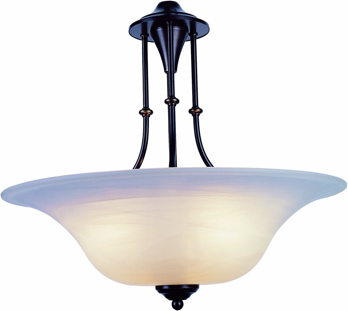 Trans Globe Imports 6543 WB Transitional Three Light Pendant from Perkins Collection Dark Finish, 20.00 inches, Weathered Bronze