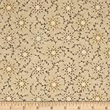 """Henry Glass Tan 108"""" Wide Quilt Backing Prairie Vine Fabric by The Yard,"""