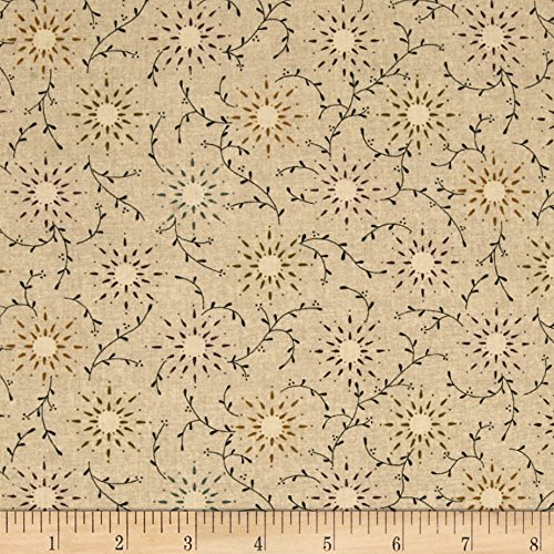 108' Wide Quilt Backing (108in Wide Quilt Backing Prairie Vine Tan Fabric By The Yard)