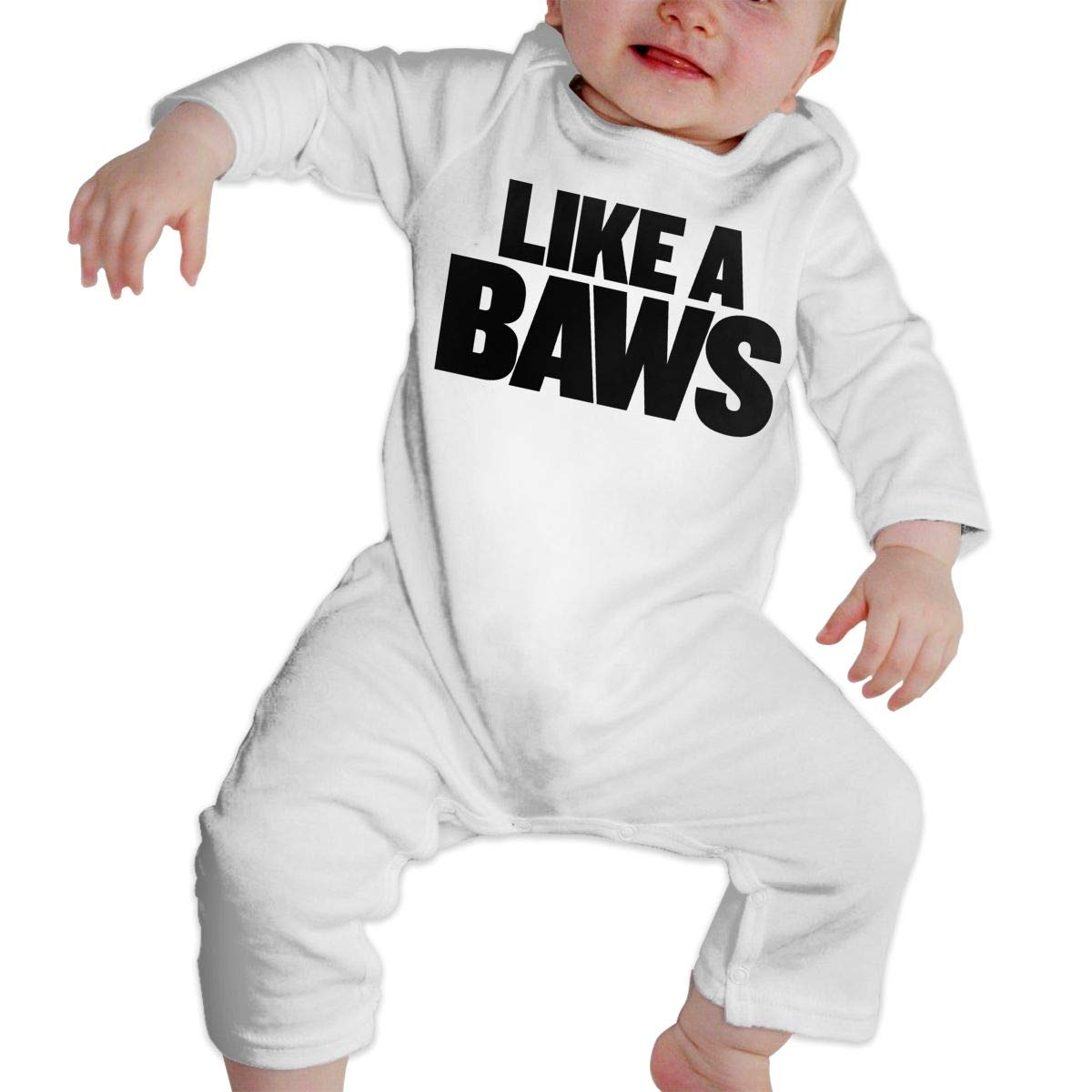 Fasenix Like A Baws Newborn Baby Boy Girl Romper Jumpsuit Long Sleeve Bodysuit Overalls Outfits Clothes