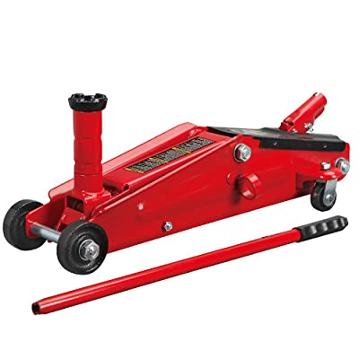 BIG RED T83006 Torin Hydraulic Trolley Service/Floor Jack with Extra Saddle (Fits: SUVs and Extended Height Trucks): 3 Ton (6,000 lb) Capacity, Red: Automotive