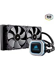 CORSAIR HYDRO Series H115i PRO RGB Refroidissement Liquide, Radiateurs 280mm, Deux Ventilateurs PWM ML140, Eclairage RGB Avancé, Compatible Socket Intel 115x/2066 et AMD AM4
