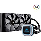 Corsair Hydro H115i Pro RGB Sistema di Raffreddamento a Liquido, Radiatore da 280 mm, Due Ventole PWM Serie ML da 140 mm, l'Illuminazione RGB, Compatibile con Socket Intel 115x/2066 e AMD AM4