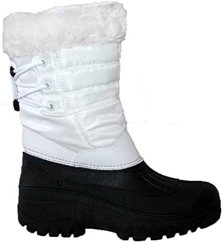 LADIES BLACK WINTER WARM MUCKER BOOT WITH STURDY TREAD SOLE IN SIZES 4 /& 5 /& 6