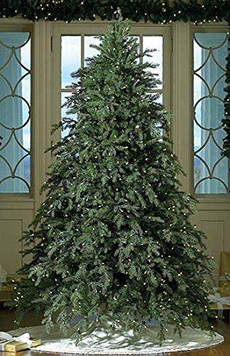 GKI Bethlehem Lighting Pre-Lit Downswept Hunter Fir Full Artificial Christmas Tree with Warm Clear LED Lights, 7.5'