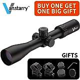 Vanstarry Optics Rifle Scope 30mm Tube 4-16x44mm 1/4 Moa Adjustments Srst Focal Enhanced Mil-Dot Reticle Matte