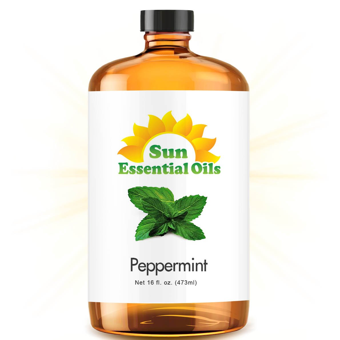 Peppermint (Mega 16oz) Best Essential Oil by Sun Essential Oils