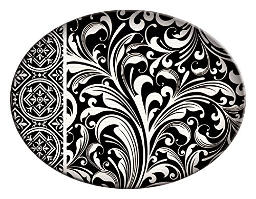 Michel Design Works Glass Soap Dish, Black Florentine Art Glass Soap Dish