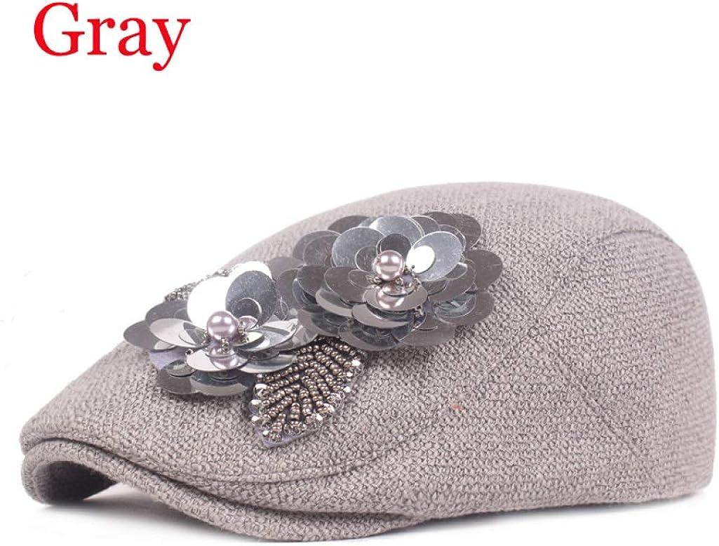 Flowers Berets Hat Cotton...