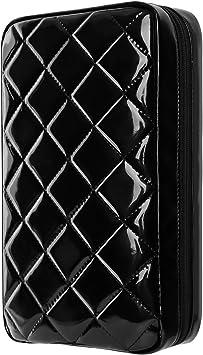 Estuches de CD, Alachi EU 96 Capacidad Charol blando Cremallera doble Estuche de DVD a prueba de agua Estuche de almacenamiento de disco portátil Soporte para coche Viaje Niños: Amazon.es: Electrónica