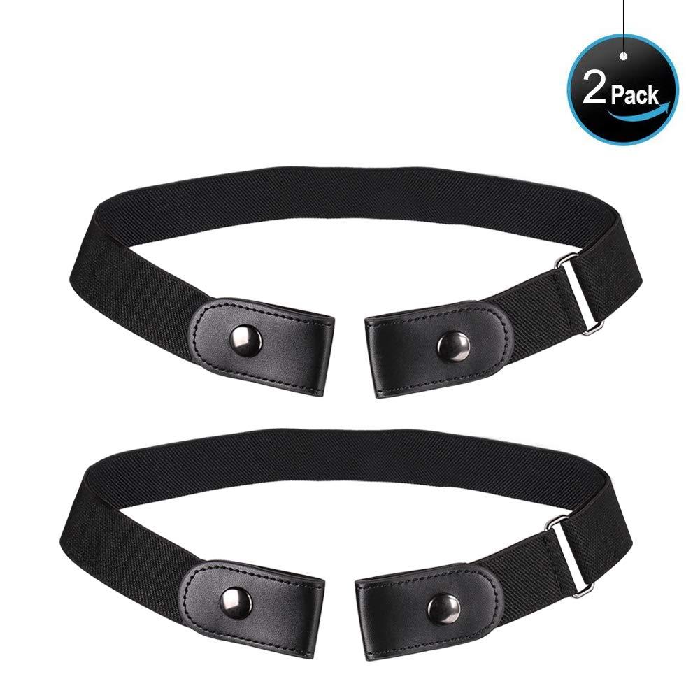 BuckleFree Elastic Belt NO Buckle Invisible Stretch Belt Women's Plus Belts for Jeans Pants Dresses