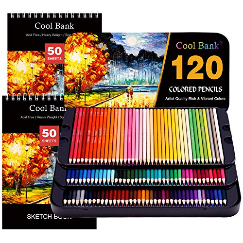 120 Professional Colored Pencils