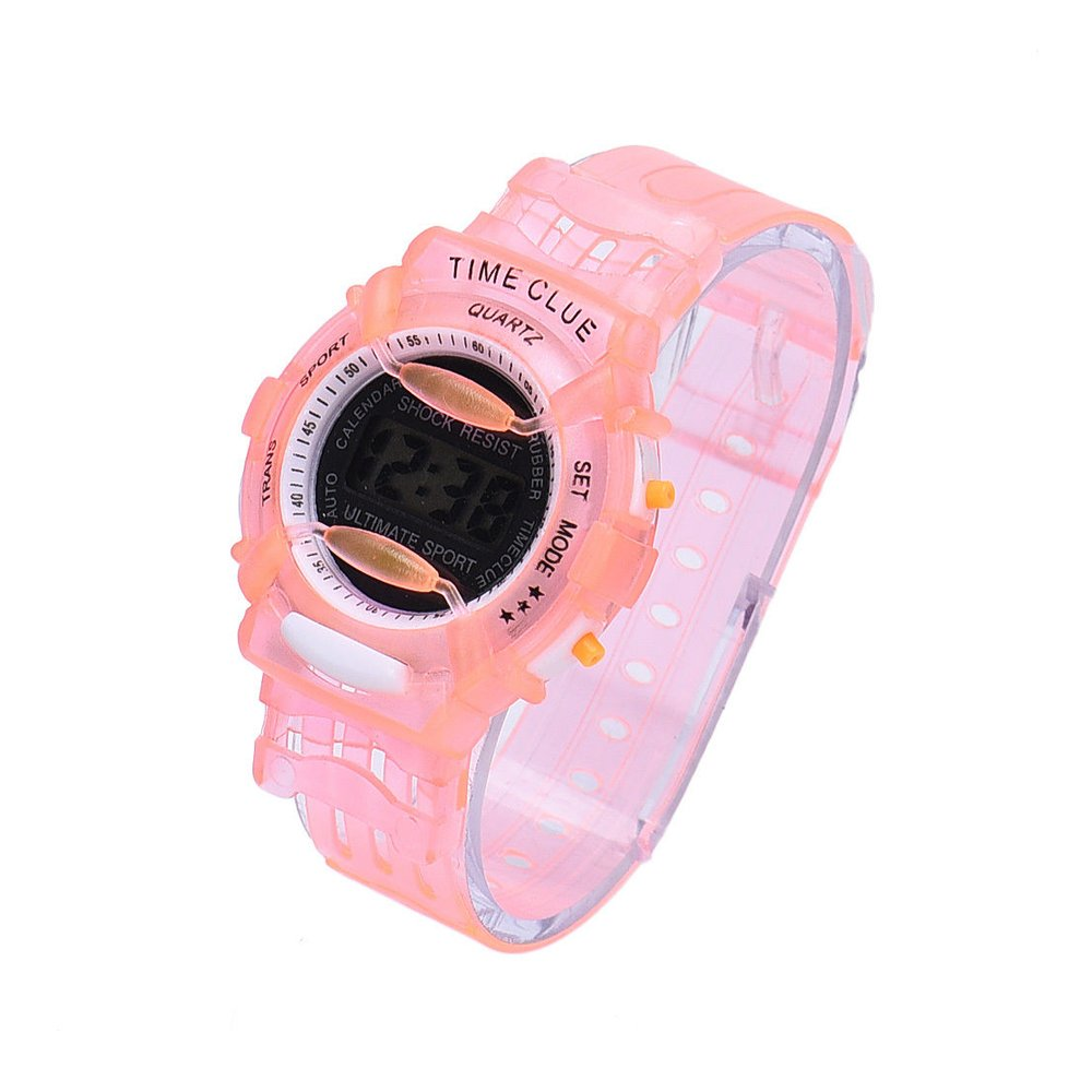 Outdoor Boys Girl Multifunction Waterproof Sports Electronic Watch ???????? ???? C Red