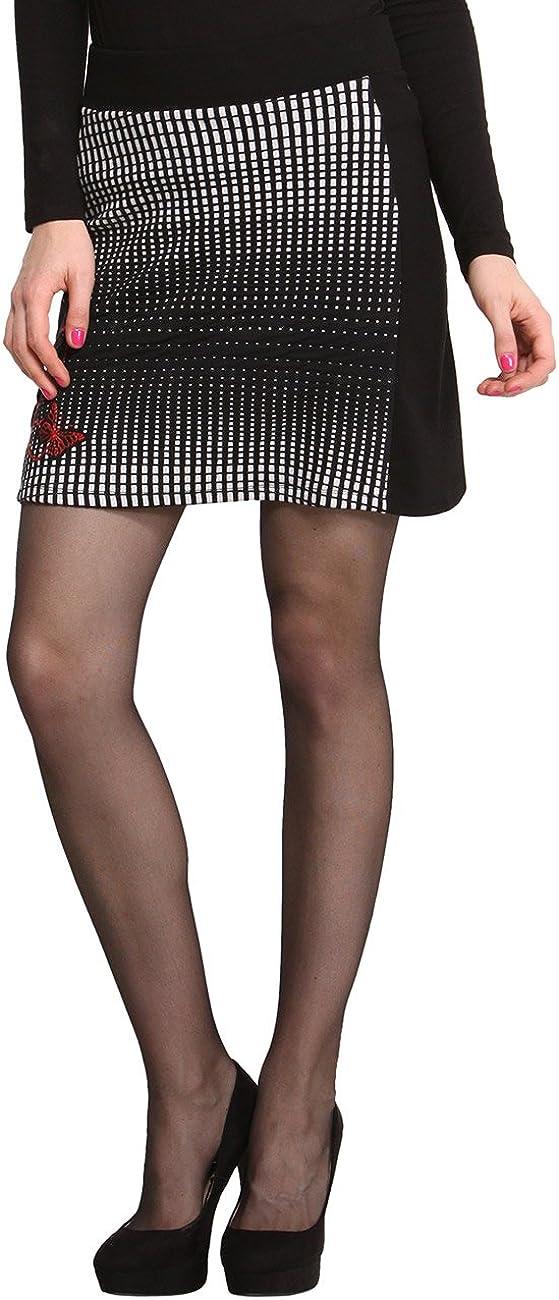Desigual Lowest price challenge Women's Woman Black Knee Skirt SIL Many popular brands Length