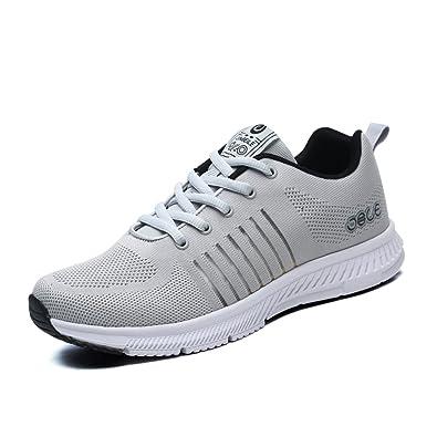 2c42373dbc3c03 Chaussure Homme de Basket Mode pour Compétition Trail Running Tissu  Respirant Sneakers Loisir Léger Antidérapant Antichoc