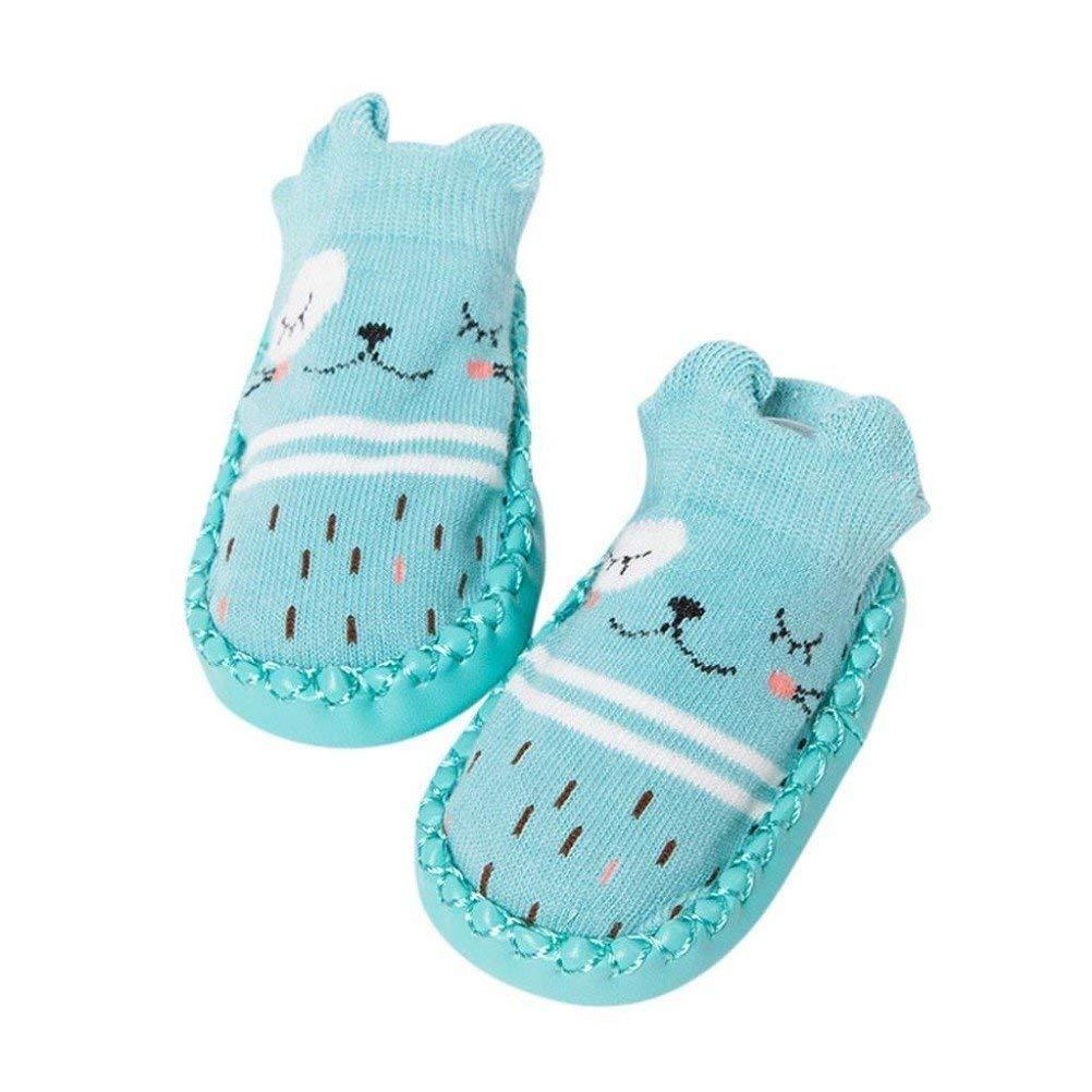 Yezelend Chaussettes de sol pour b/éb/é Dessin anim/é nouveau-n/é b/éb/é filles gar/çons chaussettes anti-d/érapant chaussons chaussures bottes chaussettes pour 0-24 mois