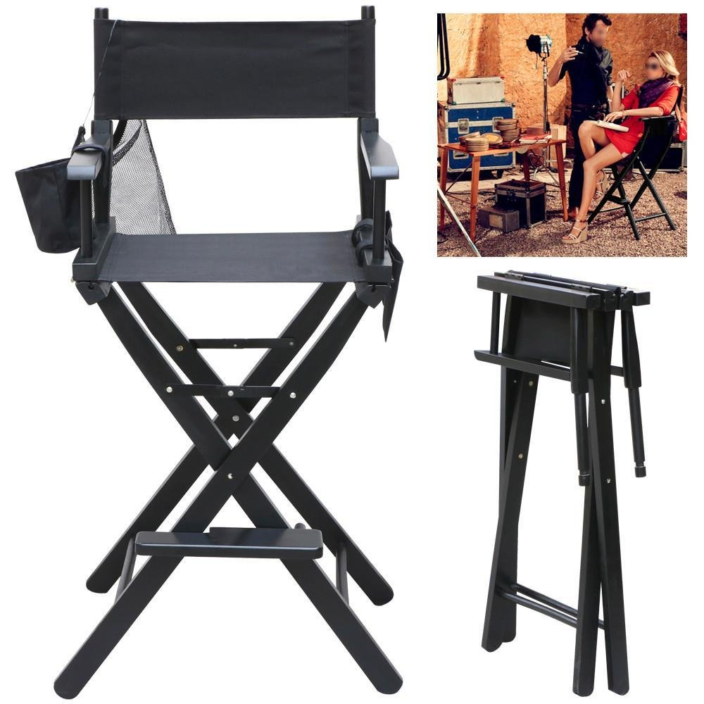Monumart Folding Wood Telescopic Director Chair Lightweight with Two Detachable Side Bags