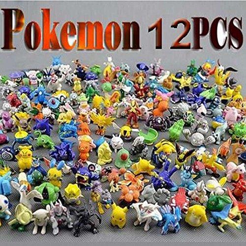 Pokemon Kids Mini Figures (12Pcs/Lot Pokemon Toys 2-3cm Mini Cartoon PVC Action Kids Toys Action)