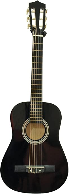 Guitarra de concierto FIDEL con bolsa para llevar, 1/2, negra ...