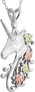 product image for Black Hills Gold on Silver Unicorn Pendant