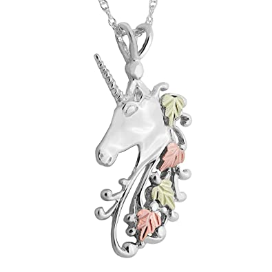 Amazon black hills gold on silver unicorn pendant jewelry black hills gold on silver unicorn pendant aloadofball Image collections