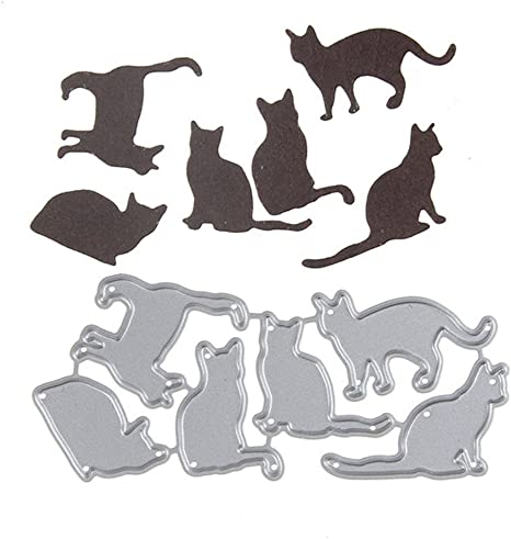 Six Cats Dream/_light Metal Cutting Dies Embossing Dies Stencil Template Mould for DIY Scrapbooking Photo Album Paper Card Making Craft Wedding Party Decoration DIY Gift Die-Cuts