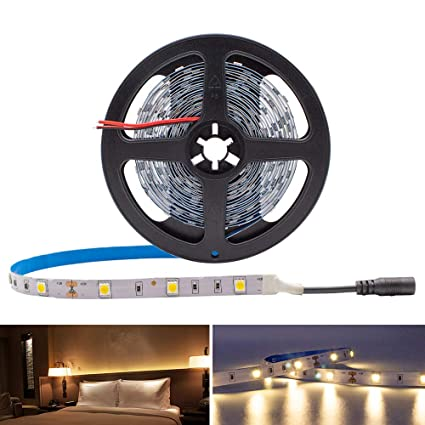 Amazon 5050 warm white led light strip 150 leds 3000k 109 5050 warm white led light strip 150 leds 3000k 109 lumens 17 aloadofball Gallery