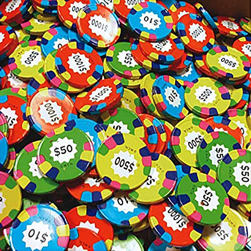 Madelaine Premium Milk Chocolate Casino Poker Chips (Assorted Coins, 1 LB)