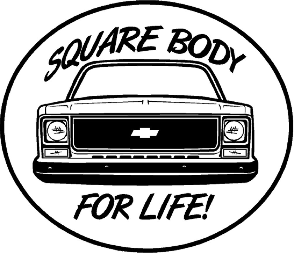 Amazon com square body for life s 10 ck1500 2500 truck window sticker decal ntpa hot rod automotive