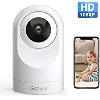 WiFi Camera Indoor, Goowls 1080P HD Pan/Tilt 2.4GHz Home Camera Wireless Security Dog Camera IP Camera for Baby/Pet/Nanny Monitor Night Vision Motion Detection Two-Way Audio Works with Alexa