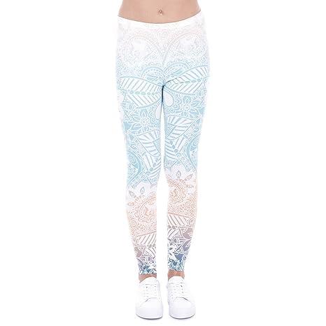 Amazon.com : POAONOSS Yoga Pants Brand Leggings Mandala Mint ...