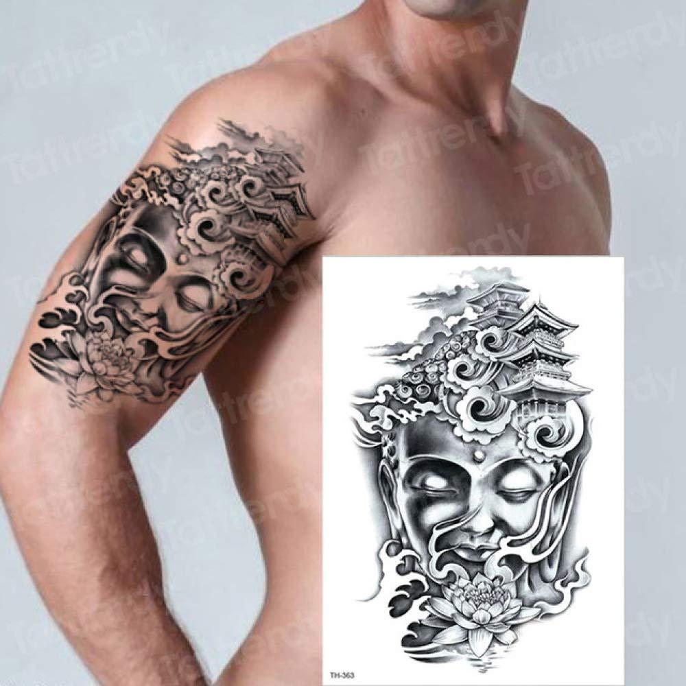 7Pcs-Tattoo Arm Chinese Buddha Lotus Seat Bamboo Tattoo Sticker ...