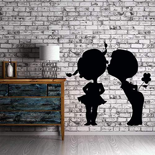 Dongwall Kiss Kissing Vinyl Tatuajes de Pared Pareja Amor ...
