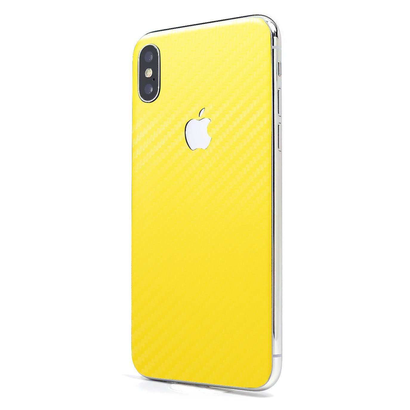 detailed look e5000 50f3b Yellow Carbon Fiber SKINTZ Glass Protection Skin Wrap Compatible with  iPhone X and iPhone Xs (5.8