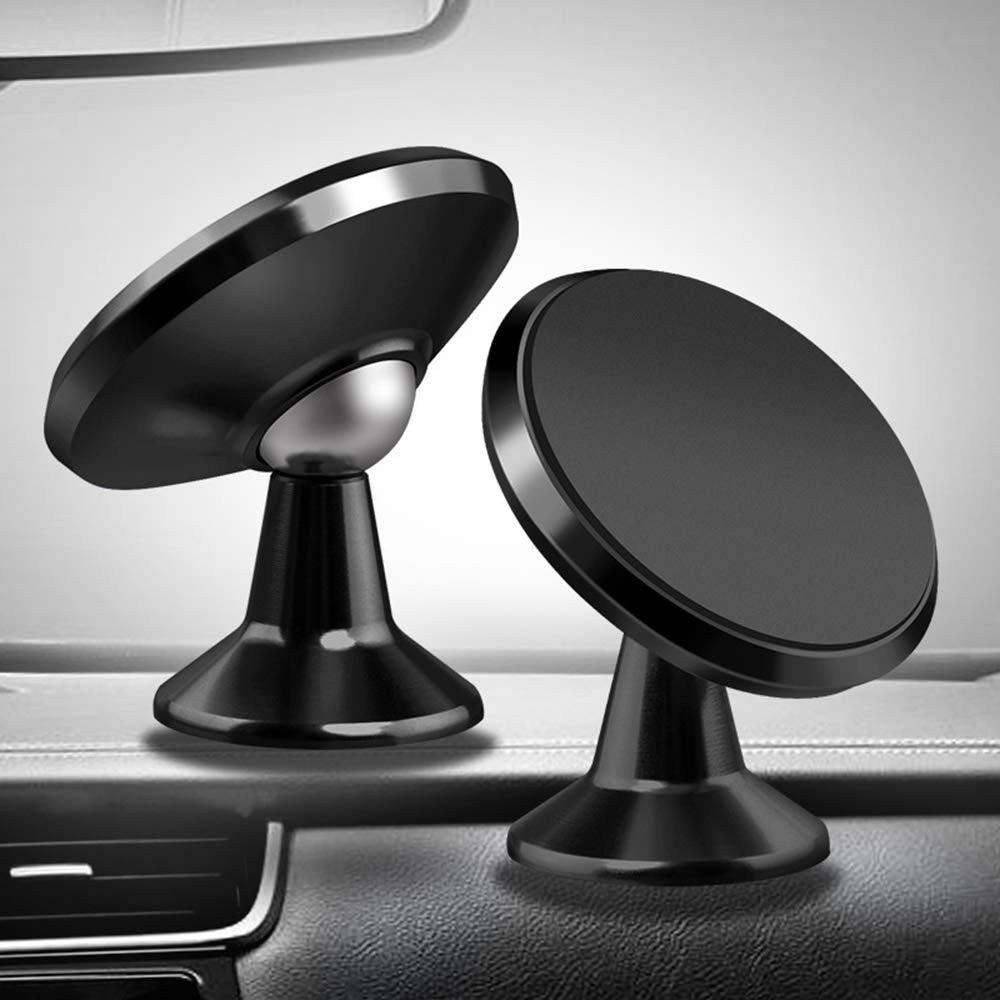 Car Phone Holder 2 Pack Magnetic Phone Car Mount Holder Dashboard Universal Cell Phone Holder Compatible for Car Smartphone iPhone X XS Max 8 7 6S 6 Plus Galaxy S8 S7 Edge Note 8 5 HTC LG GPS Black LODIIYAR 4351665802