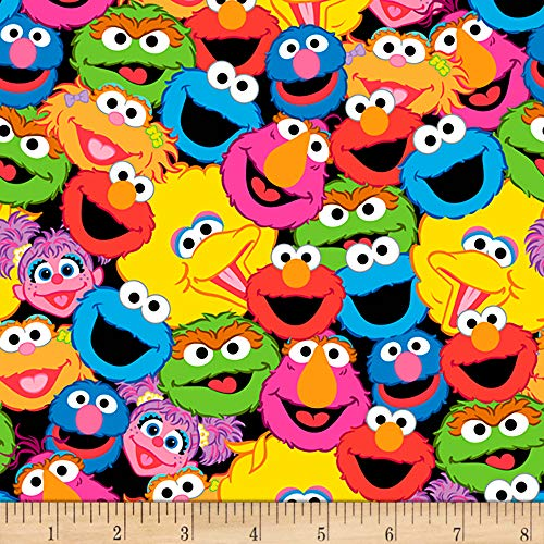 Exclusive Sesame Street Digital Characters Packed Multi Fabric by The Yard]()