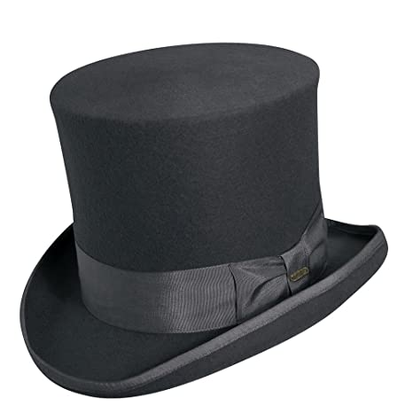 20bbc9157 Scala Classico WF567 Mens Wool Felt Top Hat Hats, GREY - 3