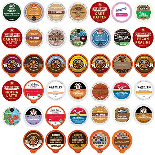 Flavored Coffee Single Serve Cups For Keurig K cup Brewers Variety Pack Sampler, 40 count (Premium Sampler)