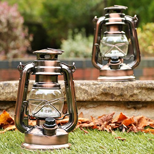 Lampe Lanterne Tempête Retro Decorative Led De Lot 2 Vintage jR435qcAL