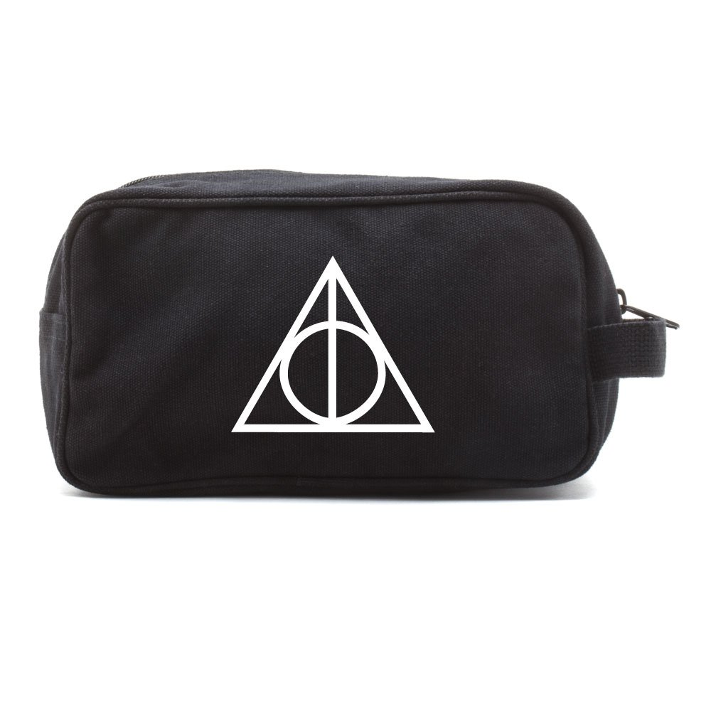 Deathly Hallows Harry Potter Dual Two Compartment Toiletry Kit Bag Black & White