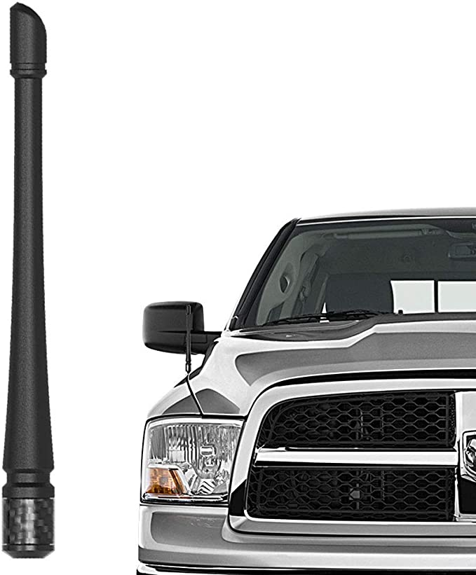 Premium Reception - Car Wash Proof Short Rubber Antenna German Engineered 1999-2009 Internal Copper Coil The Original 6 3//4 Inch is Compatible with Dodge Ram Truck 3500 AntennaMastsRus