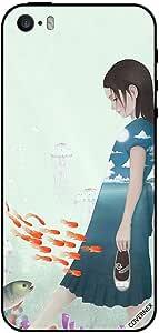 حافظة لآيفون 5 فتاة داخل البحر العميق