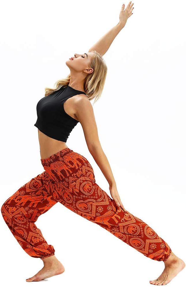 Amazon.com: Men Women Harem Pants, Bohemian Tapered Elephant ...