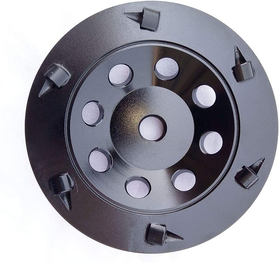 5 inch PCD Grinding Wheel 6 Segments for Remove Epoxy Glue Mastic Paint and Concrete Floor Surface Coating with 5//8-11 Thread