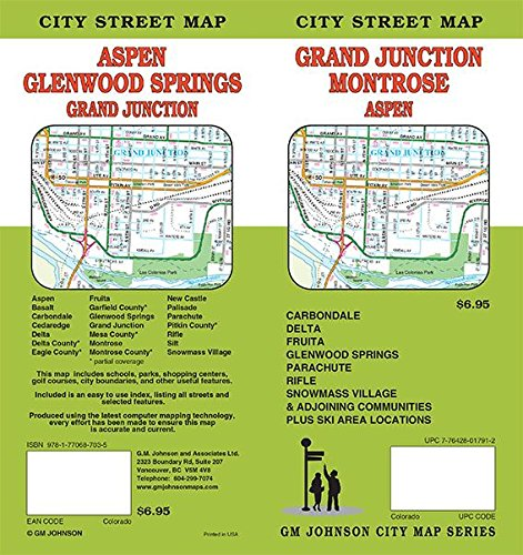 Grand Junction / Aspen / Glenwood Springs / Montrose, Colorado Street Map