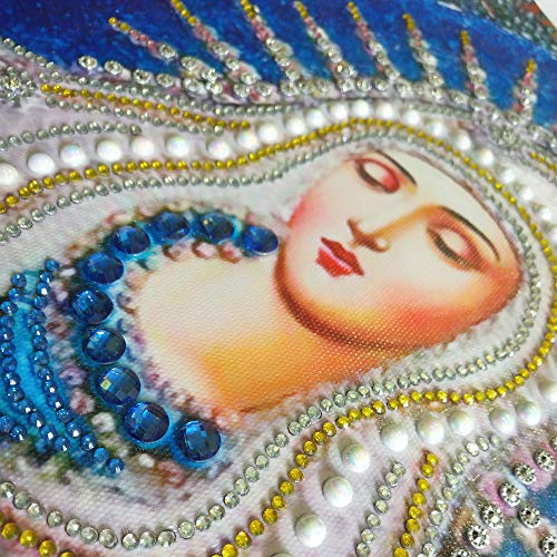 Special Shaped Diamond Painting Madonna - Franterd DIY 5D Partial Drill Cross Stitch Kits Crystal Rhinestone of Picture Diamond Embroidery Mosaic Arts Craft Home Wall Decor by Franterd Home Decor (Image #7)