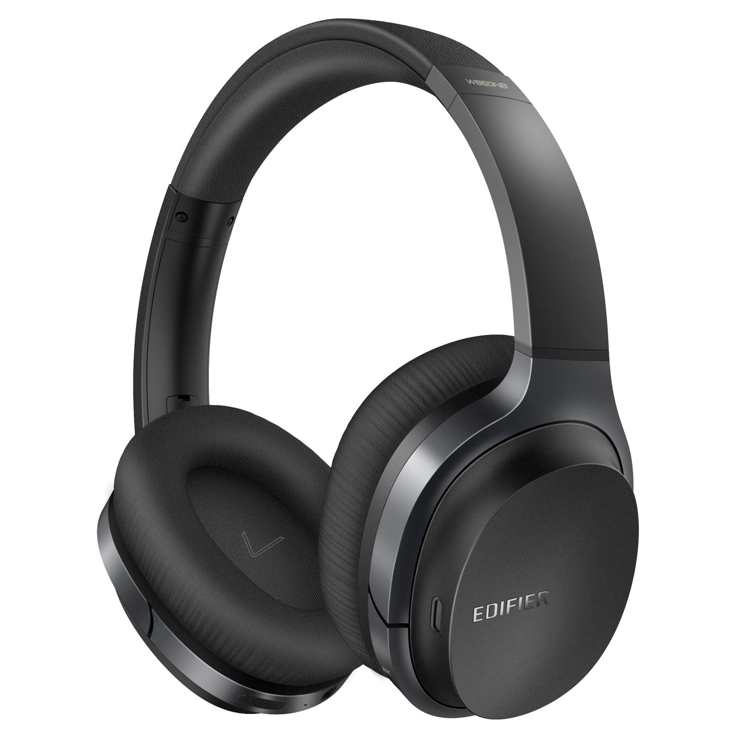 Wireless Active Noise Cancelling Headphones with Microphone Edifier W860NB Hybrid ANC Bluetooth Earphones with Touch Control for TV Computer Cellphones