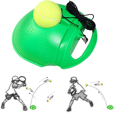 Fansport Tennis Trainer Tennis Trainer Training Tennis Tool Tennis Ball Trainer Tennis Training Equipment Trainer Tools With Ball Tennis Aid Sports Tennis Ball Back Balls Back Base Amazon Co Uk Sports Outdoors